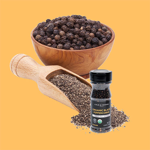 Organic Black Pepper cooking spice