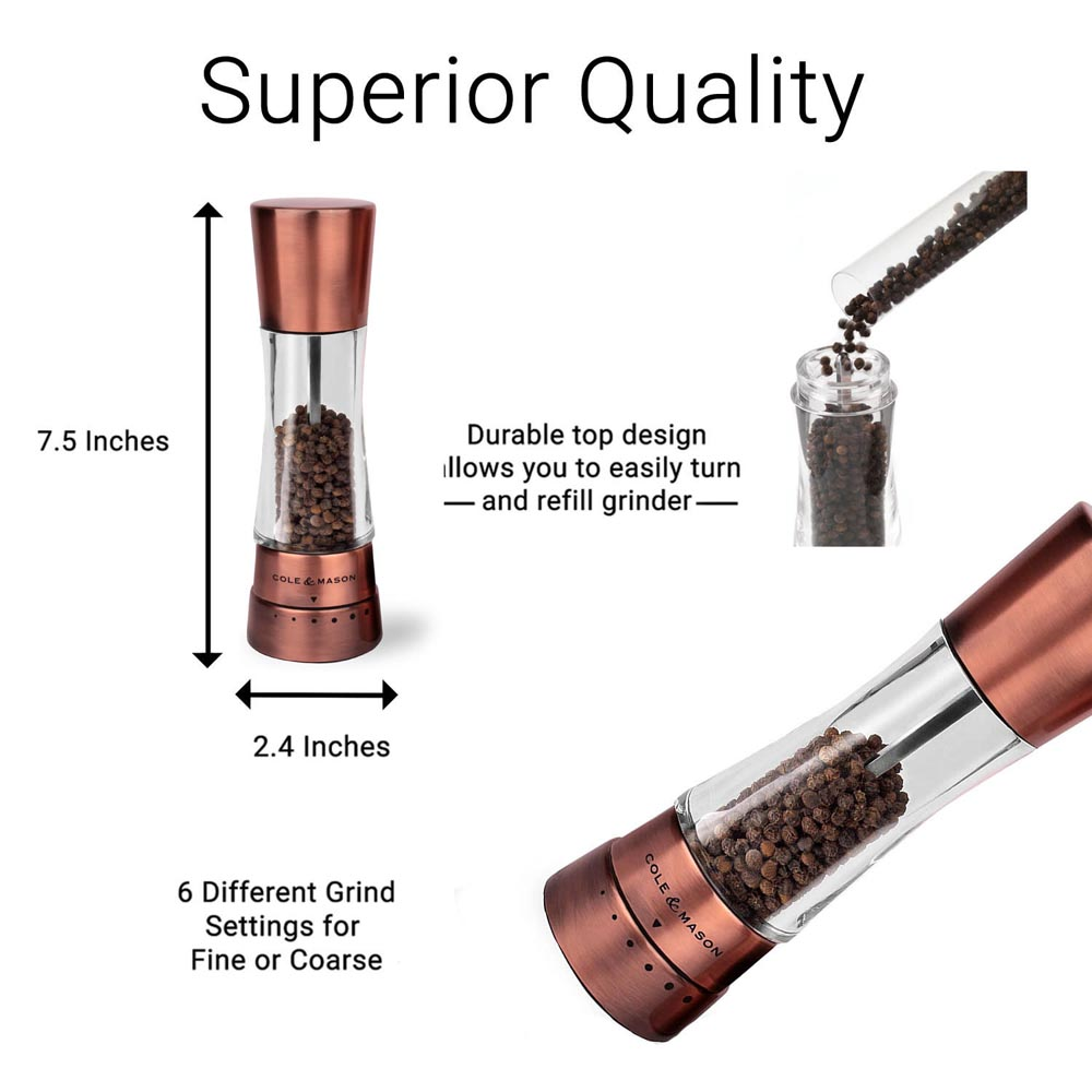 Cole & Mason Derwent Pepper Mill, Copper