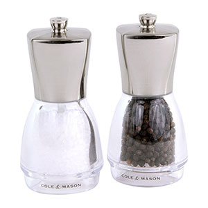 Cole & Mason Salisbury Salt & Pepper Gift Set - Filled