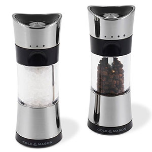 Cole & Mason 6 in. Horsham Salt & Pepper Mill Gift Set, Chrome - H321845U