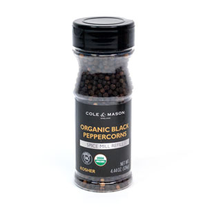 Cole & Mason Organic Black Pepper Refill
